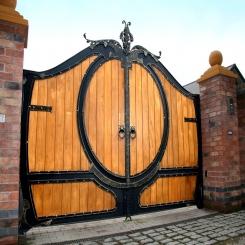Кованые ворота КВ 99