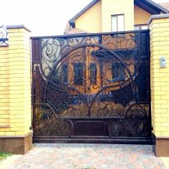 Кованые ворота КВ 101