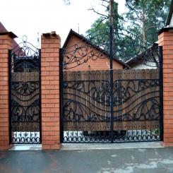 Кованые ворота КВ 102