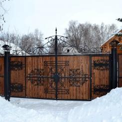 Кованые ворота КВ 105