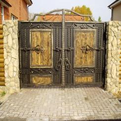 Кованые ворота КВ 107