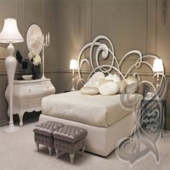 Кровать с кованой спинкой КК 12