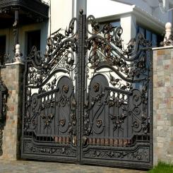 Кованые ворота КВ 26