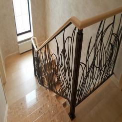 Кованая лестница пламя КЛ 35