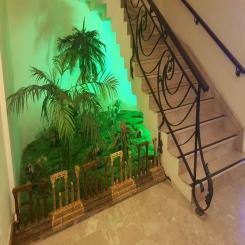 Кованая лестница листва КЛ 37