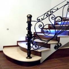 Кованый пригласительный столб для лестницы КПС 24