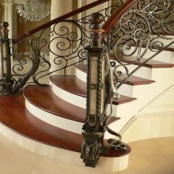 Кованый пригласительный столб для лестницы КПС 44