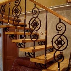Кованая лестница ККЛ_12