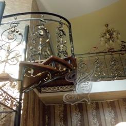 Кованая винтовая лестница КВЛ_7