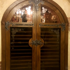 Кованые накладки на распашные двери КН_1