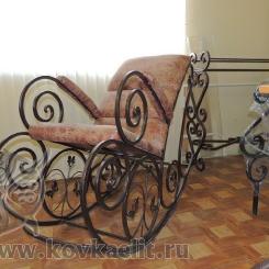 Кованое кресло качалка КК_11