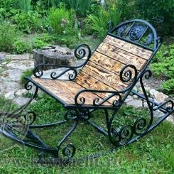 Кованое кресло качалка КК_13