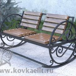 Кованое кресло качалка КК_18