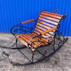Кованое кресло качалка КК_4