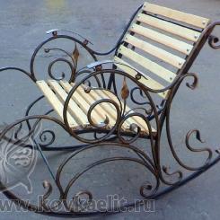 Кованое кресло качалка КК_8
