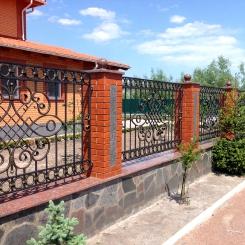 Кованый забор КЗ_22