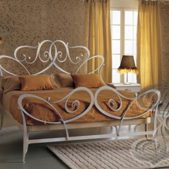 Кованая кровать металл КК_14