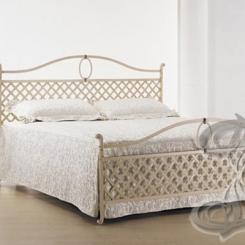 Кованая кровать белого цвета КК_15