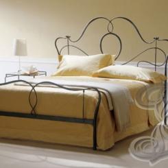 Кованая кровать черная КК_18