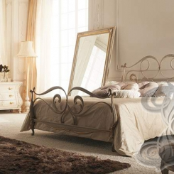 Кованая кровать бронза КК_19
