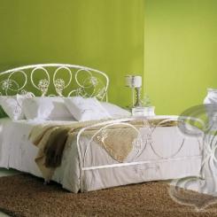 Кованая кровать белая КК_6