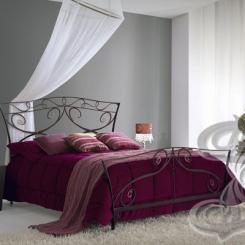 Кованая кровать черная КК_32