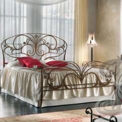 Кованая кровать слоновая кость КК_39