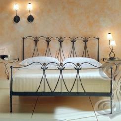 Кованая кровать с кованой спинкой КК_7