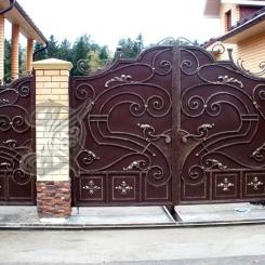 Кованые ворота распашные КВ_108