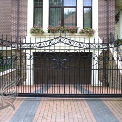 Кованые ворота откатные КВ_118