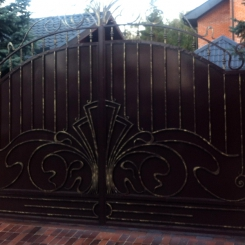 Кованые ворота откатные КВ_121