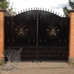Кованые ворота распашные КВ_115