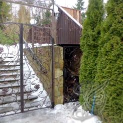 Кованые ворота распашные КВ_116