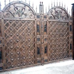 Кованые ворота под старину КВ_122