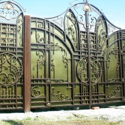 Кованые ворота КВ_30