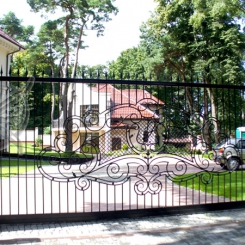 Кованые ворота откатные КВ_117