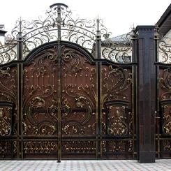 Кованые ворота КВ_37