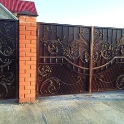 Кованые ворота КВ_38