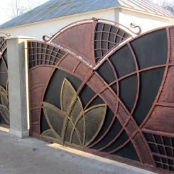 Кованые ворота КВ_42