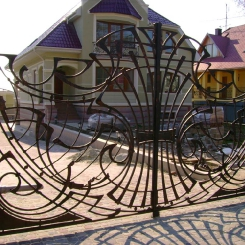Кованые ворота КВ_43