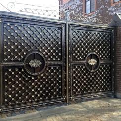 Кованые ворота КВ_45