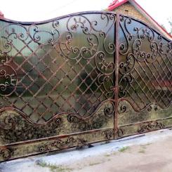 Кованые ворота КВ_48