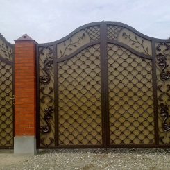 Кованые ворота КВ_54