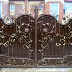Кованые ворота КВ_55