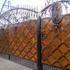 Кованые ворота КВ_59