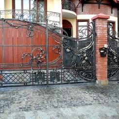Кованые ворота КВ_61