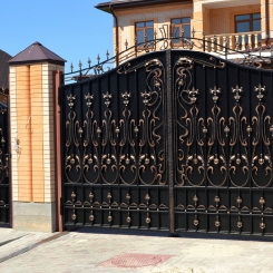 Кованые ворота КВ_64
