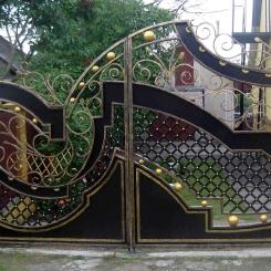 Кованые ворота КВ_66