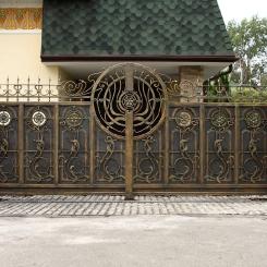 Кованые ворота КВ_68