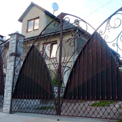 Кованые ворота КВ_85